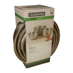 Tramontina Mixing Bowls ProLine Stainless Steel 3 Pc Set