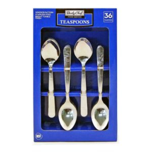 Member's Mark Stainless Steel Tea Spoons Set 36 Ct